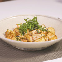 豆腐と青ジソのチャンプルー