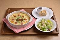 伊勢志摩サミット参加国にちなんだ食材のメニュー「サミットドリアセット」=近鉄リテーリング提供