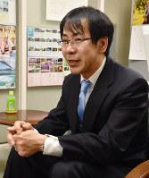 日本銀行徳島事務所長の本田尚さん=徳島市西船場町2の日本銀行徳島事務所で、松山文音撮影