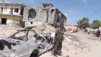 ソマリアの首都モガディシオの破壊されたホテル=西谷文和さん撮影