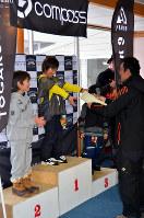 「ジャパンジュニアフリースキーオープン」の8歳以下の部の表彰式
