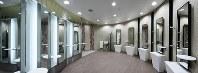 東京メトロ副都心線の池袋駅に設置された女子トイレのパウダールーム。清潔感にこだわった空間は商業施設のようだ=東京メトロ提供