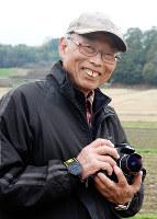 生前の森和彦さん=奈良県桜井市の山田寺跡近くで2015年3月20日、矢追健介撮影