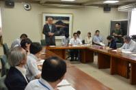県庁で初めて開かれたドローン活用案検討会