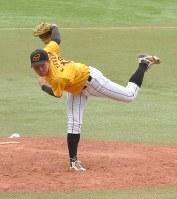 176球で完投したオールフロンティアの高橋京=ZOZOマリンで2017年6月2日午後2時24分、倉沢仁志撮影