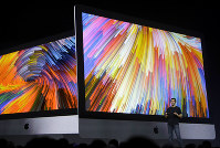 Apple's John Ternus speaks during an announcement of new products at the Apple Worldwide Developers Conference in San Jose, Calif., on June 5, 2017. (AP Photo/Marcio Jose Sanchez)