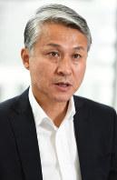 社会人日本代表監督の石井章夫さん=東京都千代田区で2017年5月、中村藍撮影