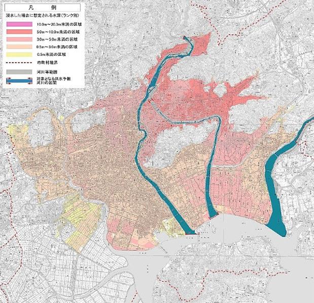 浸水想定区域:拡大 3水系の洪水、最大規模雨量で想定 岡山河川事務所 ...