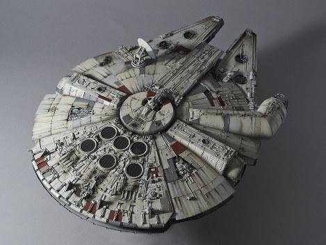In Photos: Bandai unveils model of 'Star Wars' spaceship Millennium Falcon