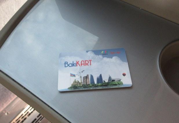 バス・地下鉄共通のICカード「バクーカード」