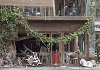 ダッカ人質テロ事件の現場となったレストラン「ホーリー・アルチザン・ベーカリー」=バングラデシュ・ダッカで2016年7月8日(代表撮影)