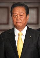小沢一郎共同代表=国会内で、藤井太郎撮影
