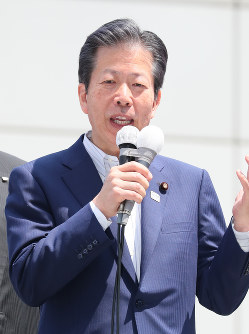 公明党の山口那津男代表=東京都品川区で2017年6月23日午前10時12分、後藤由耶撮影