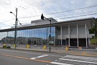 完成した新ひだか町総合町民センター「はまなす」