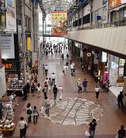 兵庫県内の最高路線価を記録した三宮センター街は、4年連続で変動率が上昇した=神戸市中央区三宮町1で、元田禎撮影