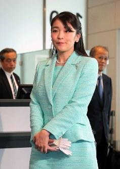 ブータン公式訪問を終え、帰国された眞子さま=羽田空港で2017年6月8日、和田大典撮影