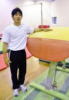 日本代表候補に選ばれた安里圭亮さん=三重県伊賀市の相好体操クラブで、大西康裕撮影