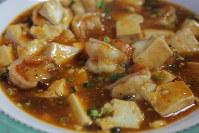 エビと豆腐のチリソース炒め