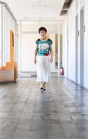 長谷川眞理子・総合研究大学院大学長=神奈川県葉山町で2017年5月19日、中村藍撮影
