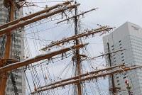 「帆船日本丸」の登しょう礼=横浜市西区で2017年7月17日午前10時38分、後藤由耶撮影