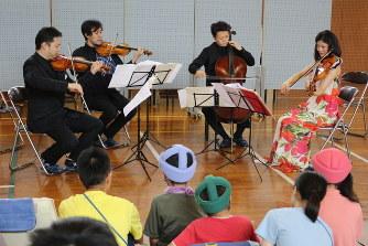 訪問コンサート:特別支援学校で...