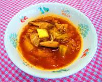 学校給食に登場するカープにちなんだ献立「Cスープ」=広島県教委提供