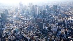 日本有数の繁華街=本社ヘリから
