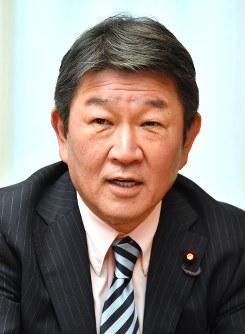経済再生、人づくり革命担当相に決まった茂木敏充氏=内藤絵美撮影