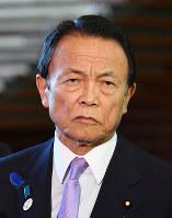 副総理、財務相の留任が決まった麻生太郎氏=川田雅浩撮影