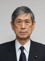 自民党副総裁の留任が決まった高村正彦氏=小出洋平撮影