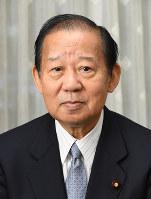 自民党幹事長の留任が決まった二階俊博氏=根岸基弘撮影