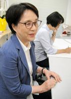 「被害者に寄り添い続けたい」と話す田中実恵子さん=神戸市中央区のひょうご被害者支援センターで、茶谷亮撮影