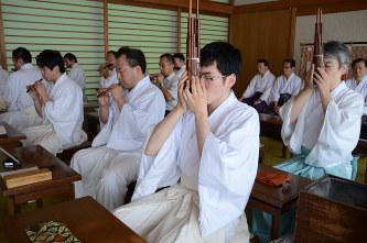 雅楽講習会:東照宮包む伝統の音...
