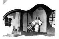 歌劇「夕鶴」の舞台=1952年2月撮影