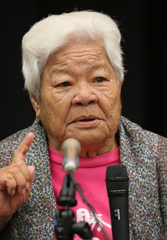 88 year old okinawan activist brings her base relocation protests to