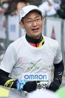 2017年2月の京都マラソンで=小松雄介撮影