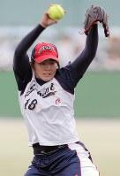 活躍が期待される日本代表の勝股=宮武祐希撮影