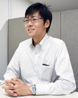 「子供たちに国体でかっこいい姿を見せたい」と話す山本将之選手=大阪市中央区の住江織物株式会社で、郡悠介撮影