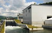 農業用水を利用した道内初の小水力発電施設「当永発電所」=当麻町で