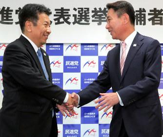 民進党代表選:「小池新党」対応...
