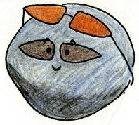 小惑星の表面も日焼けする。つまりリュウグウの表面も日焼けして、できたばかりの頃とは違う性質になっている可能性がある=イラスト・小野瀬直美