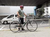サドルの高さを上げて推進力が増した自転車