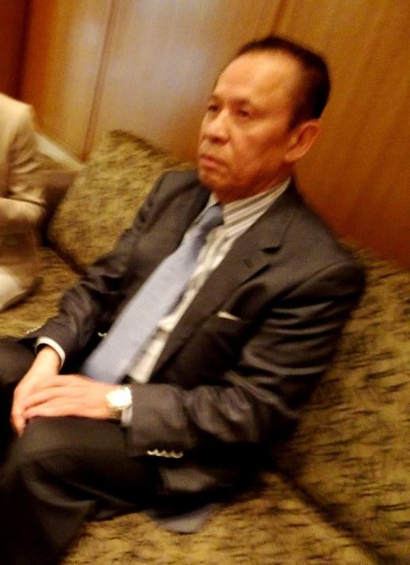 ユニバーサルエンターテインメントのオーナー創業者で、会長として実権を握っていた岡田和生氏=2017年6月29日午前10時撮影