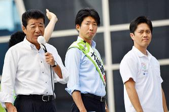 再戦:2017堺市長選/上 「維」...