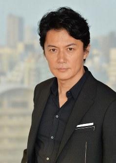 映画「三度目の殺人」主演の福山雅治=大阪市北区で、加古信志撮影