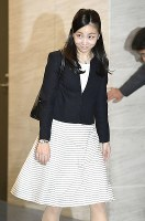 Princess Kako, second daughter of Prince Akishino and Princess Kiko, is seen at Tokyo's Haneda Airport on Sept. 12, 2017, ahead of her departure for Britain for a short foreign study trip. (Pool photo)