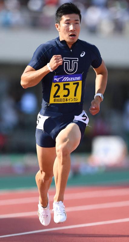 陸上・桐生選手、秒速11.67メートル条件達成 65メートル地点で最速