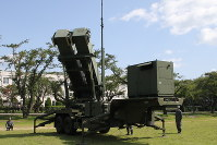 A PAC-3 Patriot missile battery is seen at the Ground Self-Defense Force's Camp Hachinohe in Aomori Prefecture. (Mainichi)