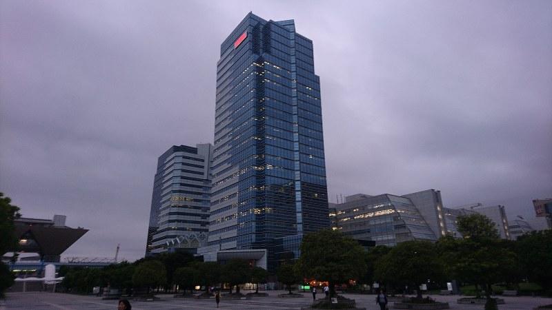 ユニバーサルエンターテインメント本社が入居するビル=東京都江東区有明