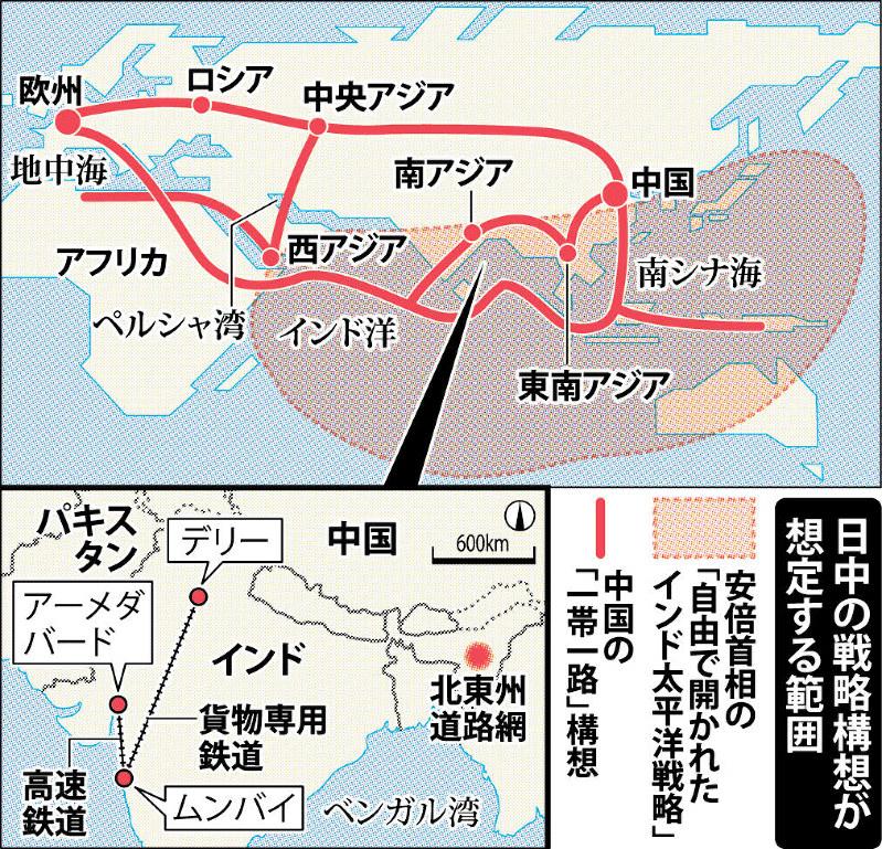 日印首脳会談:「一帯一路」けん制 共同開発、中国に対抗 | 毎日新聞